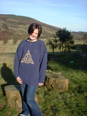 Triquetra' sweater in Denim