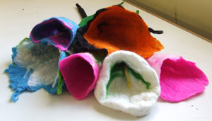 pieces made at felt workshop