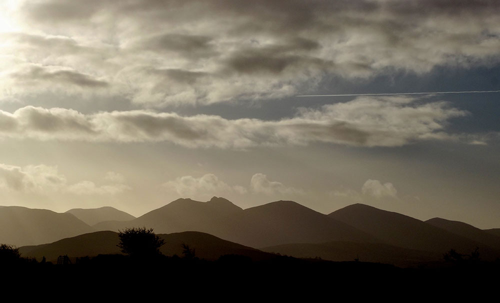 The view Southwards to the Mournes from Turnip House,